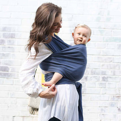 Boba Wrap - Vintage Blue-Baby Carriers-Default- Natural Baby Shower