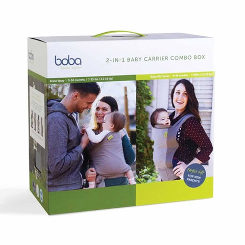 Boba 2-in-1 Baby Carrier Combo in Grey