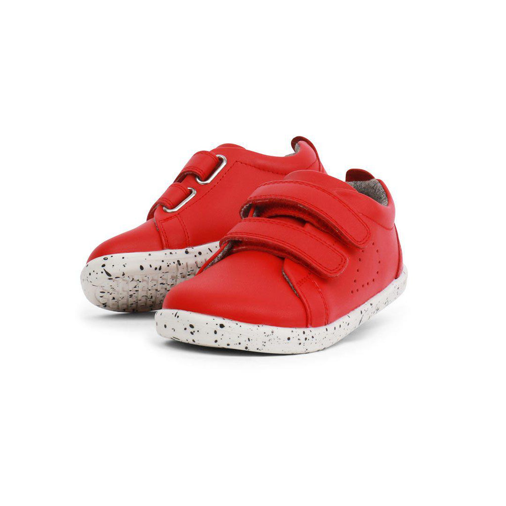 Bobux I-Walk Grass Court Shoes (AW19) - Red-Shoes- Natural Baby Shower
