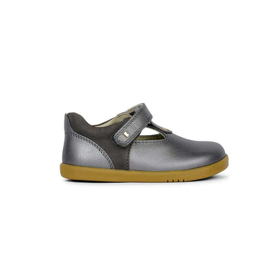 Bobux I-Walk Louise T-Bar Shoes - Charcoal Shimmer - 2020-Shoes- Natural Baby Shower