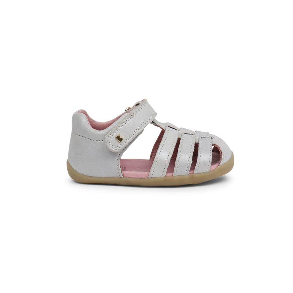 Bobux Jump Sandals - Silver Shimmer-Sandals- Natural Baby Shower