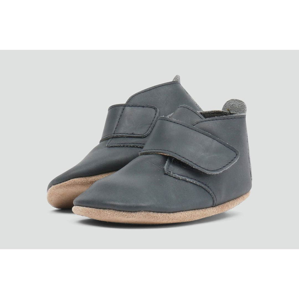 Bobux Mini Desert Boots - Charcoal-Boots- Natural Baby Shower
