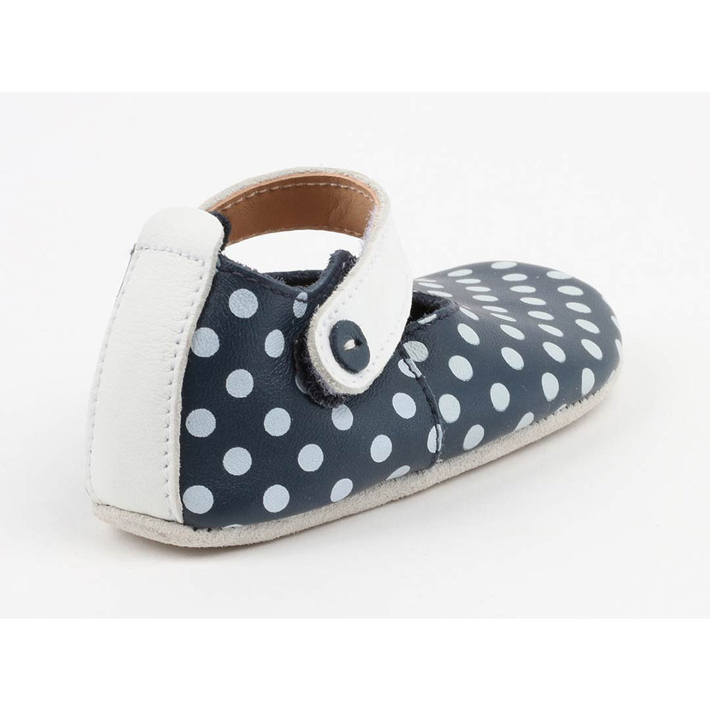 Bobux Shoes - Mary Jane - Navy + White Spots Back