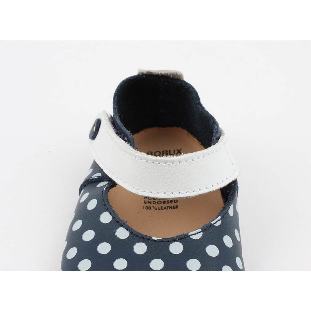 Bobux Shoes - Mary Jane - Navy + White Spots Front