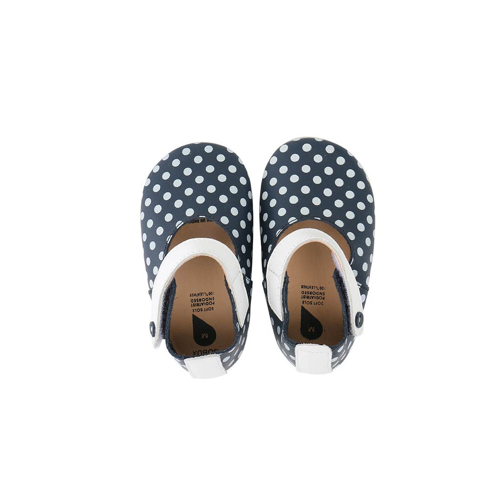Bobux Shoes - Mary Jane - Navy + White Spots