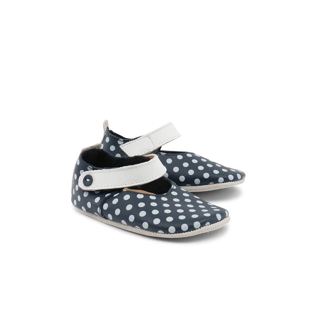 Bobux Shoes - Mary Jane - Navy + White Spots-Soft Soles- Natural Baby Shower