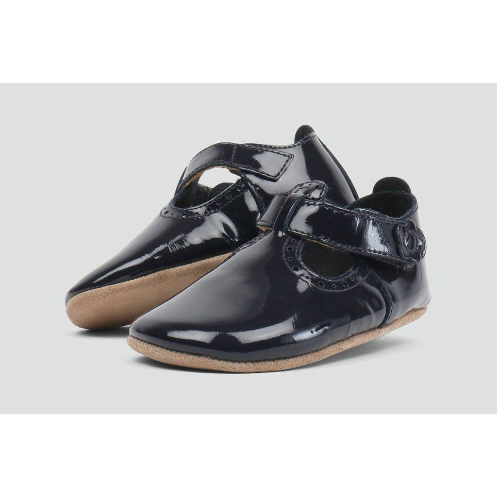 Bobux Shoes - Navy Glossy T-Bar 5