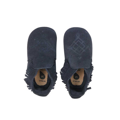 Bobux Soft Sole Shoes - Navy Suede Moccassin-Soft Soles- Natural Baby Shower