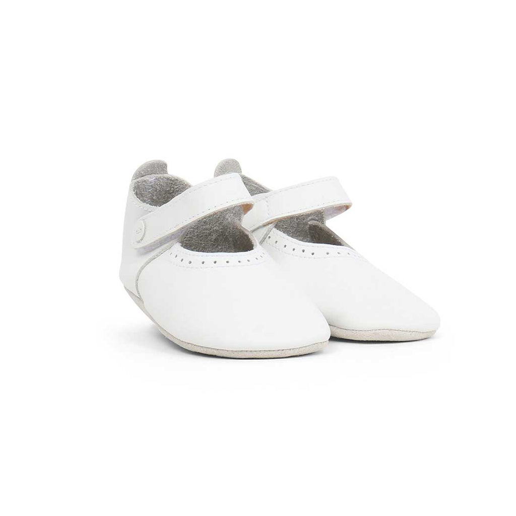 Bobux Soft Sole Shoes - White Delight-Soft Soles- Natural Baby Shower