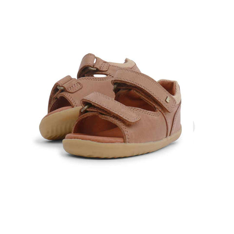 Bobux Step Up Driftwood Sandals - Caramel-Sandals- Natural Baby Shower