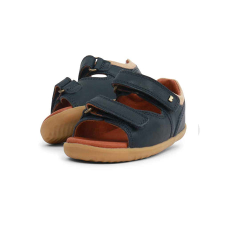 Bobux Step Up Driftwood Sandals - Navy-Sandals- Natural Baby Shower