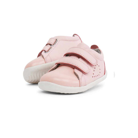 Bobux Step Up Grass Court Trainers - Seashell-Shoes- Natural Baby Shower