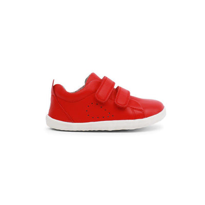 Bobux Step Up Grass Court (AW19) - Red-Shoes- Natural Baby Shower