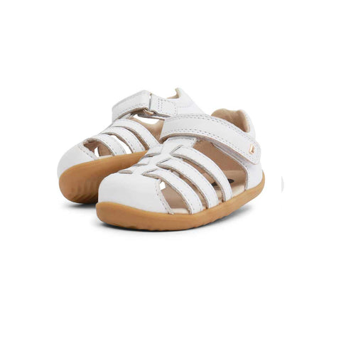 Bobux Step Up Jump Sandals - White-Sandals- Natural Baby Shower