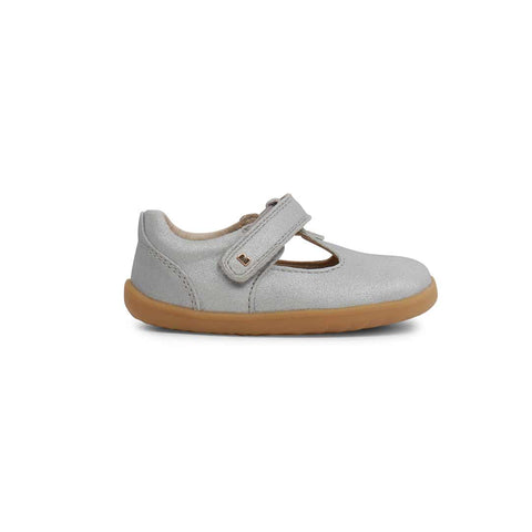Bobux Step Up Louise Shoes - Silver-Shoes- Natural Baby Shower
