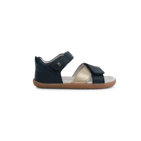 Bobux Step Up Sail Sandals - Navy + Gold-Sandals- Natural Baby Shower