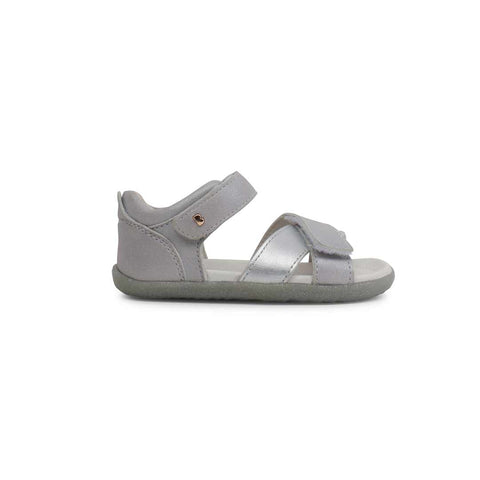 Bobux Step Up Sail Sandals - Silver-Sandals- Natural Baby Shower