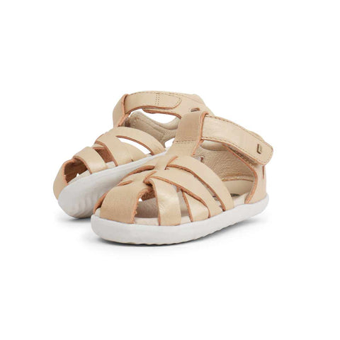 Bobux Step Up Tropicana Sandals - Gold-Sandals- Natural Baby Shower