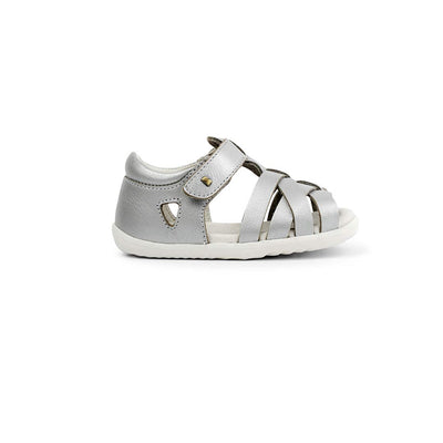 Bobux Step-Up Tropicana Sandals - 2020 - Silver-Sandals- Natural Baby Shower