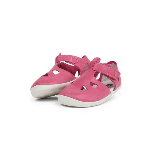 Bobux Step Up Zap Sandals - Pink-Sandals- Natural Baby Shower