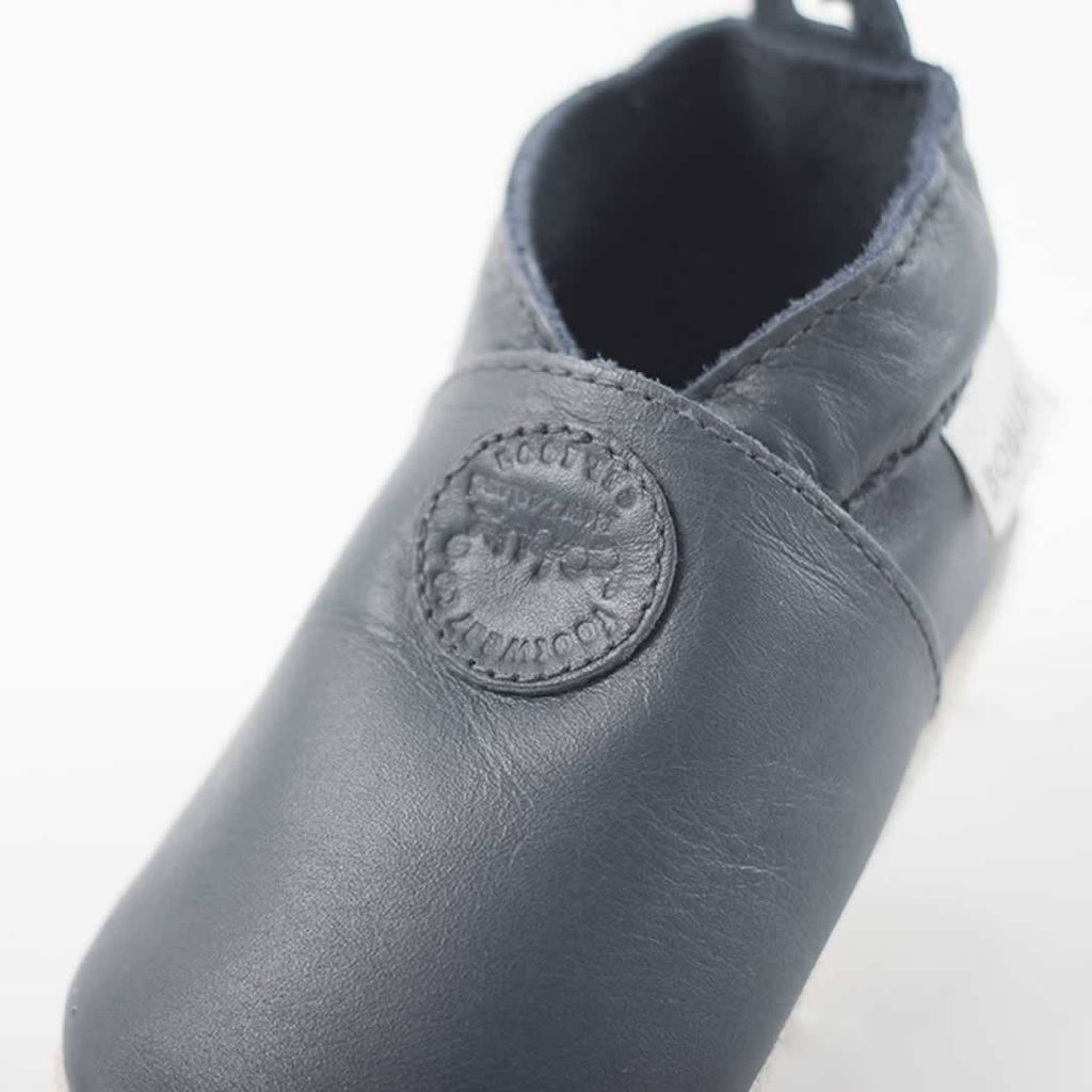 Bobux Shoes - Classic Navy Dot-Soft Soles- Natural Baby Shower