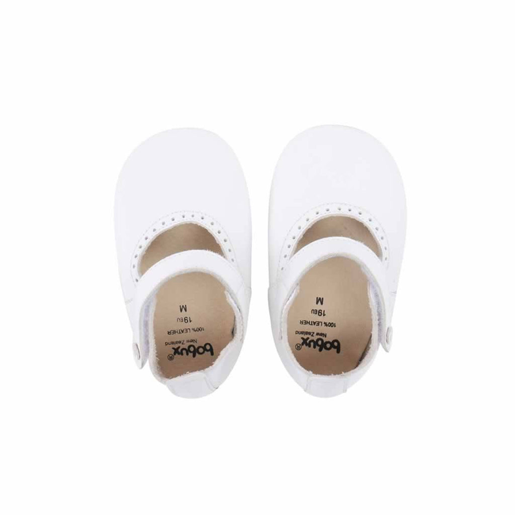 Bobux Shoes - Mary Jane White - Baby Shoes & Booties - Natural Baby Shower