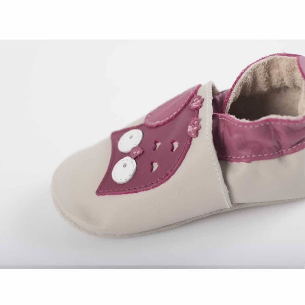 Bobux Shoes - Milk Owl Applique