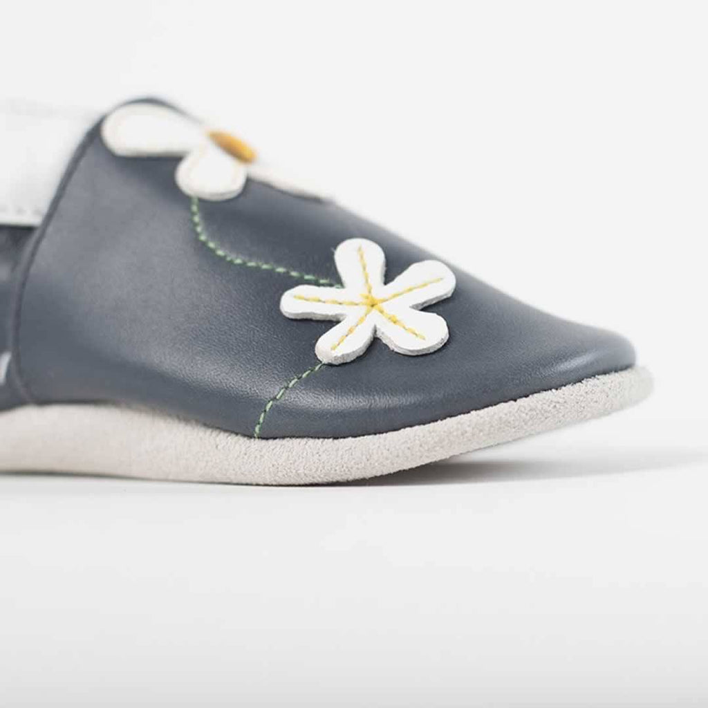 Bobux Shoes - Navy Daisy Chain-Soft Soles- Natural Baby Shower
