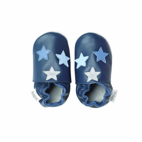 Bobux Shoes - Triple Star Navy - Baby Shoes & Booties - Natural Baby Shower
