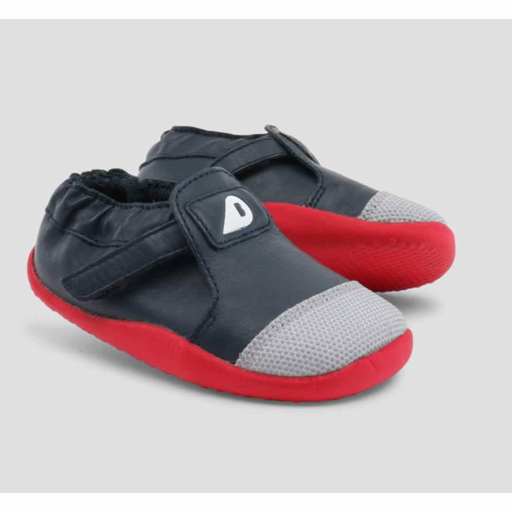 Bobux Xplorer Origin Shoes - Navy + Red Front