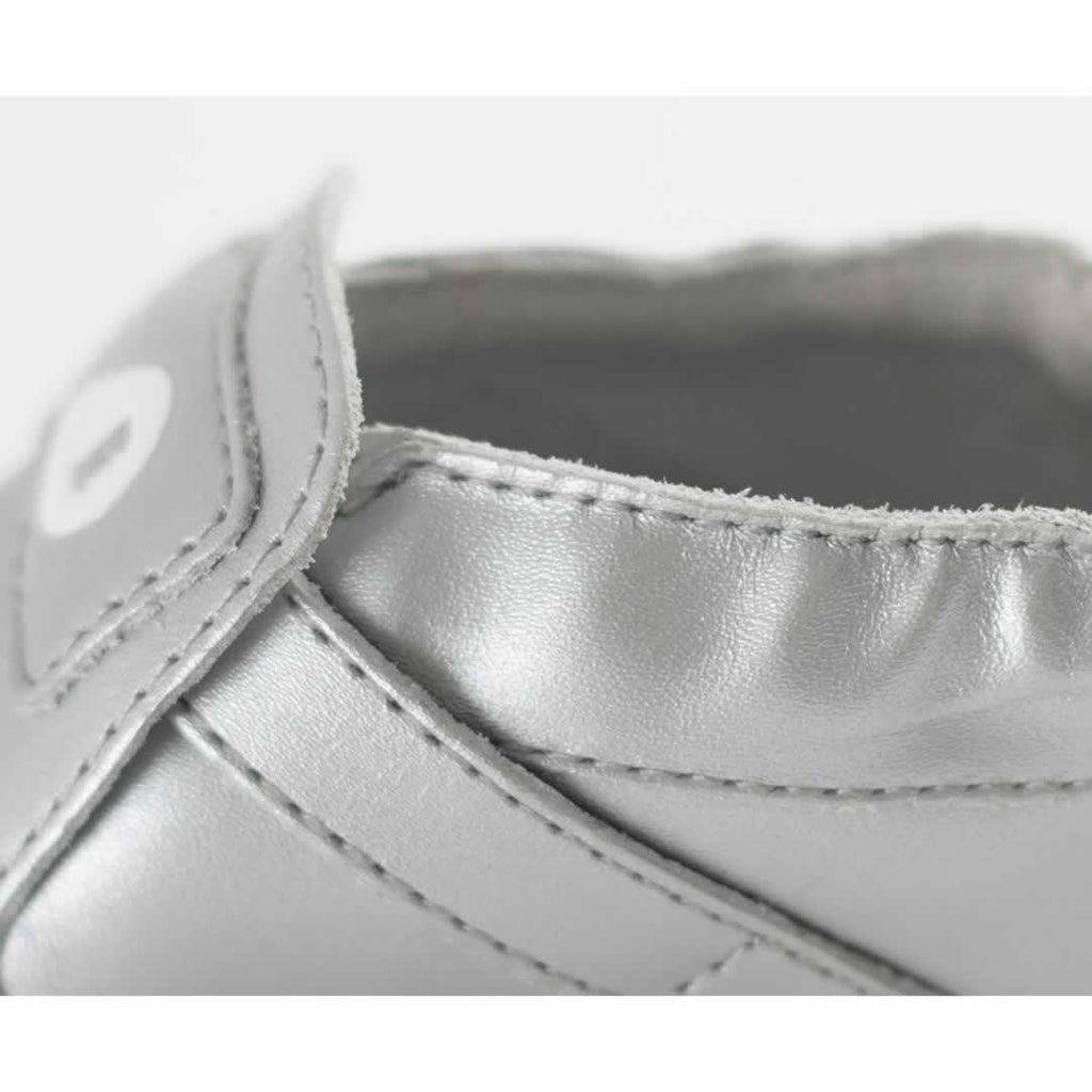 Bobux Xplorer Origin Shoes - Silver + Ice Pink Side
