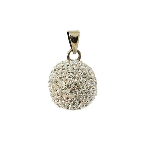 Bola Necklace Pendant Silver Sparkle