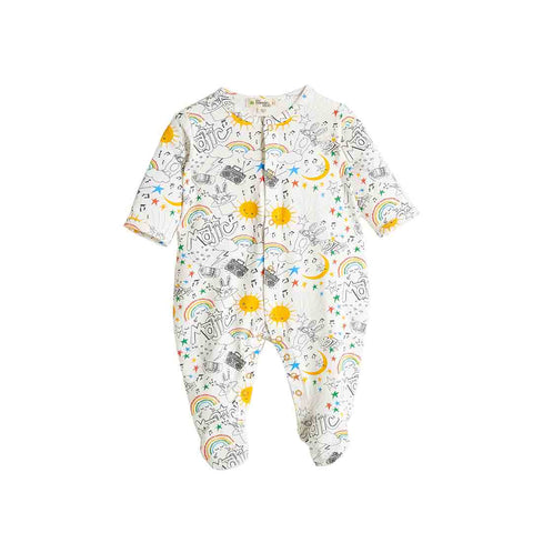 Bonnie Mob Billy Sleepsuit - Rainbow Print-Sleepsuits- Natural Baby Shower