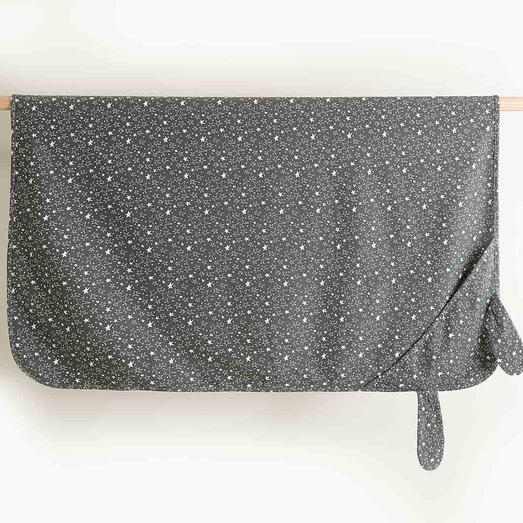 Bonnie Mob Bunny Shawl - Grey Star-Blankets- Natural Baby Shower