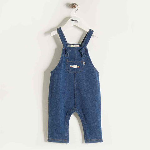 Bonnie Mob Denim Terry Dungarees - Denim Plain