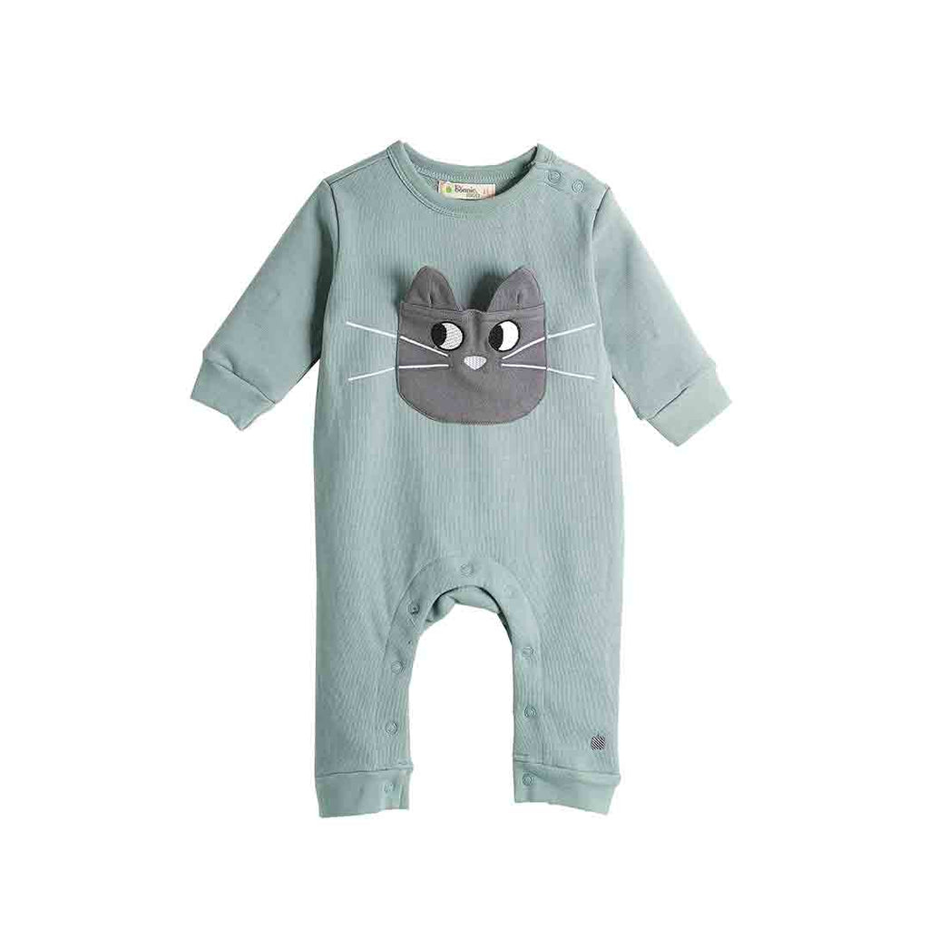 Bonnie Mob Felix Cat Pocket Playsuit - Teal