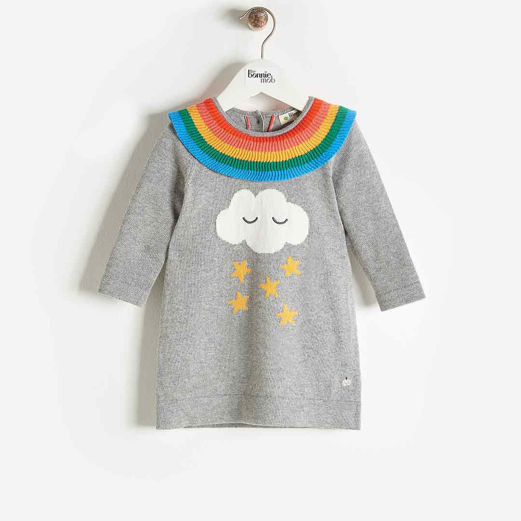 Bonnie Mob Grace Rainbow Frill Dress - Grey 2
