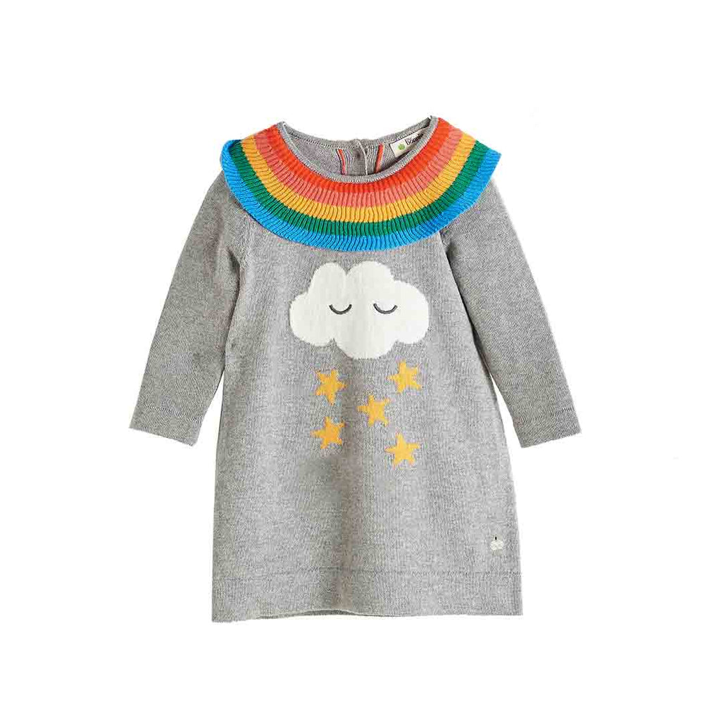 Bonnie Mob Grace Rainbow Frill Dress - Grey