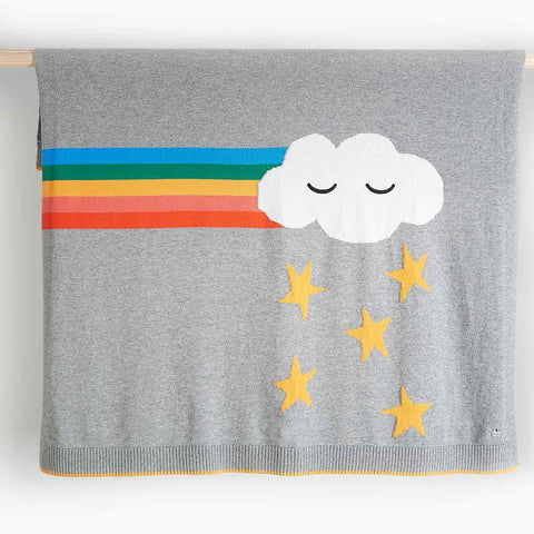 Bonnie Mob Groove Rainbow Cloud Shawl - Grey-Blankets- Natural Baby Shower