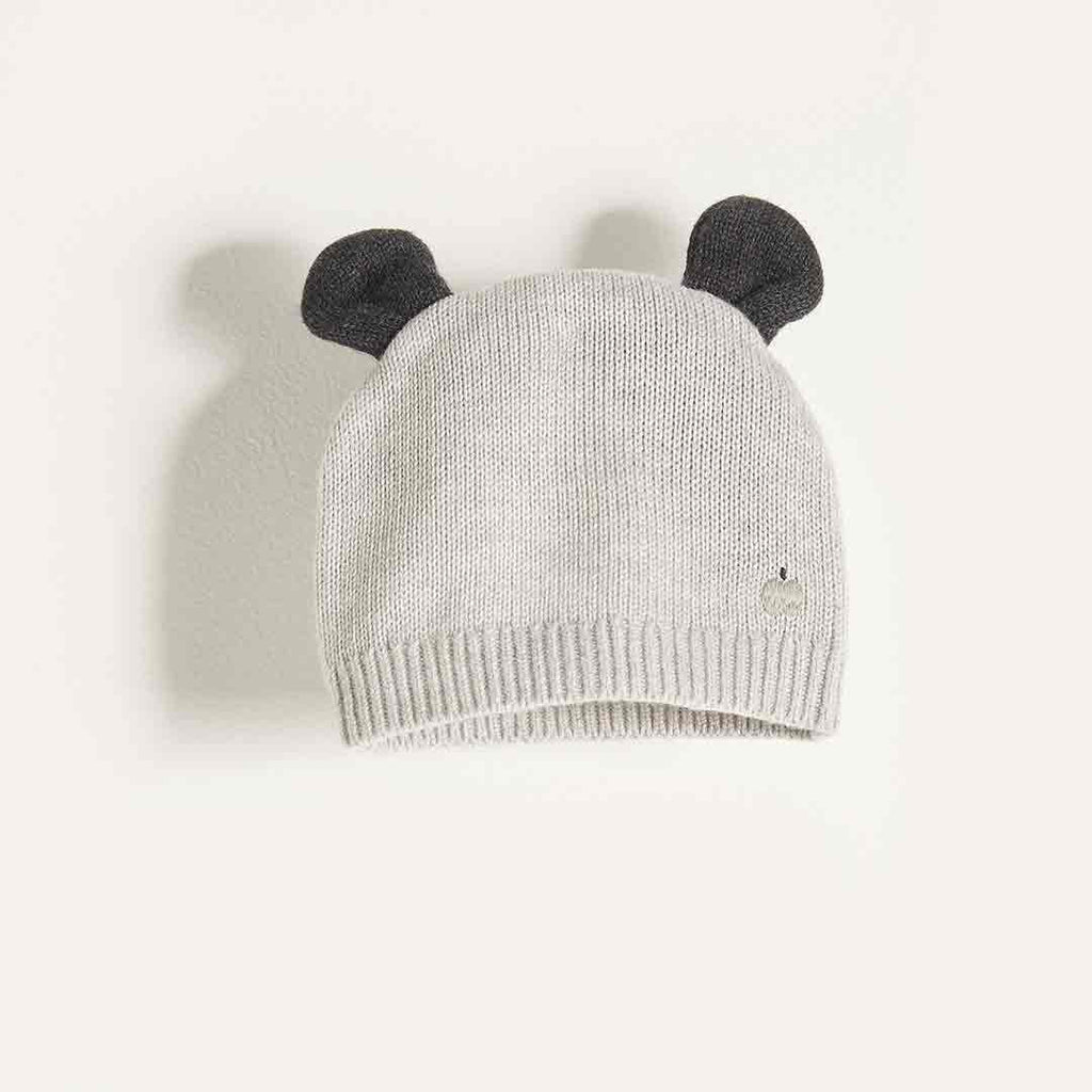Bonnie Mob Hat with Ears - Pale Grey