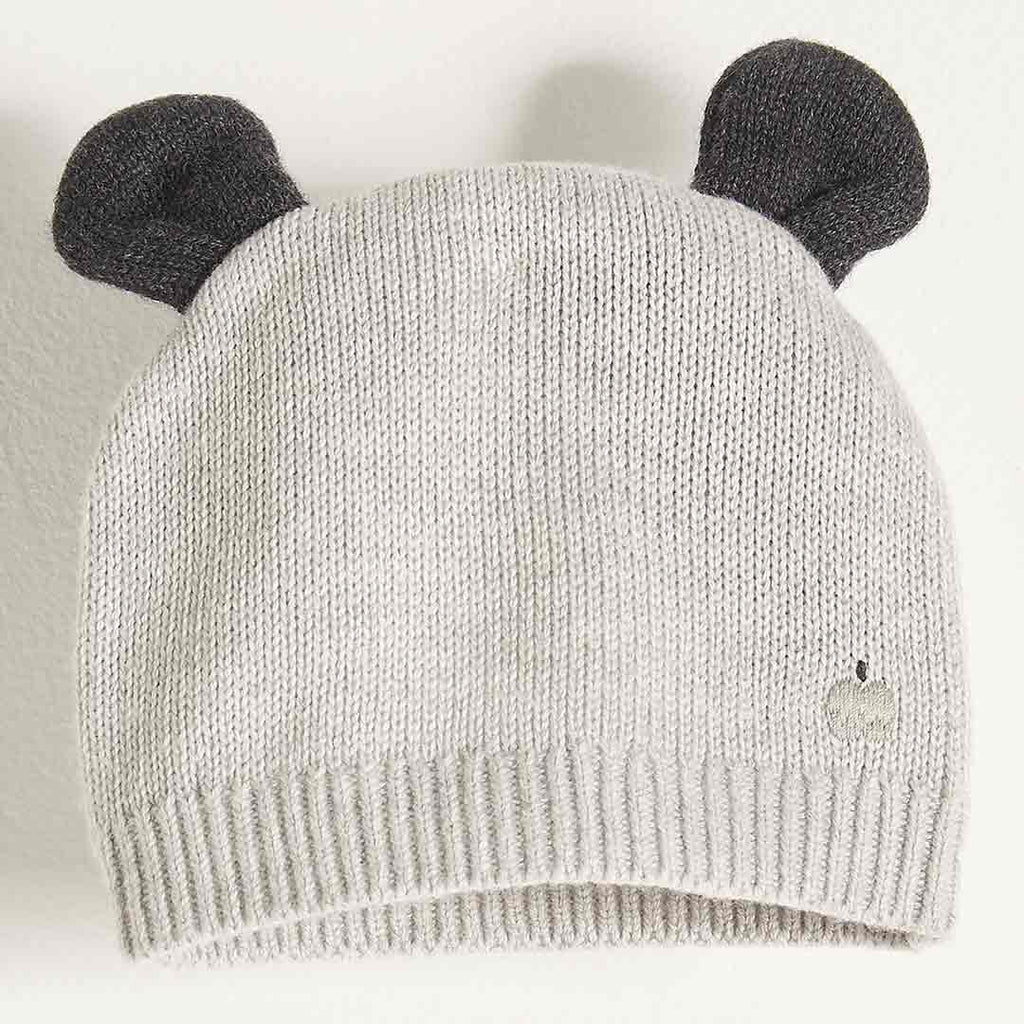Bonnie Mob Hat with Ears Pale Grey