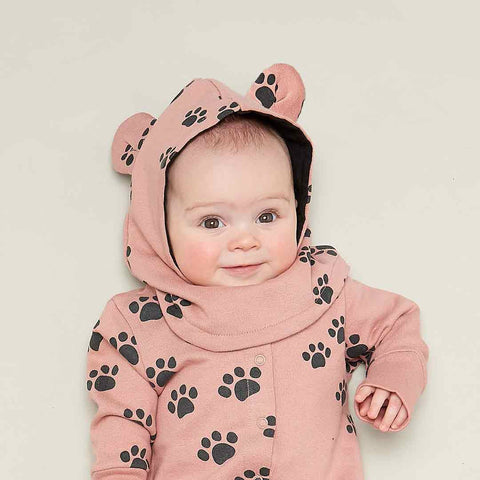 Bonnie Mob Hustle Balaclava with Ears - Pink Paws-Hats-12-24m-Pink Paws- Natural Baby Shower