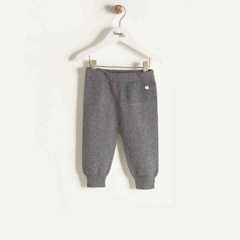 Bonnie Mob Jogging Style Knitted Trouser - Dark Grey