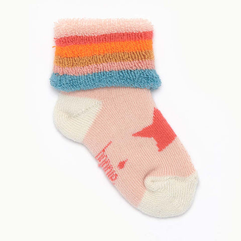 Bonnie Mob Naz Star Socks - Pink-Socks- Natural Baby Shower