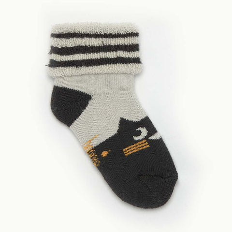 Bonnie Mob Nelly Cat Socks - Monochrome-Socks- Natural Baby Shower