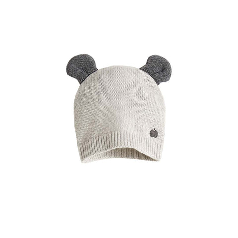 Bonnie Mob Puff Hat with Ears - Pale Grey-Hats- Natural Baby Shower