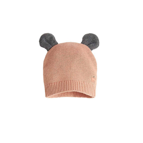 Bonnie Mob Puff Hat with Ears - Powder Pink-Hats- Natural Baby Shower