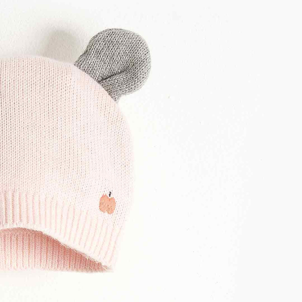 Bonnie Mob Puff Hat with Ears - Pale Pink-Hats- Natural Baby Shower