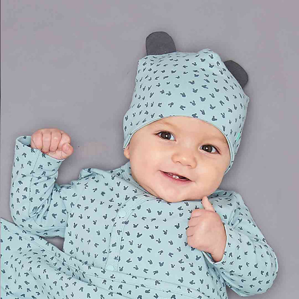 Bonnie Mob Reversible Baby Beanie Hat - Blue Lifestyle