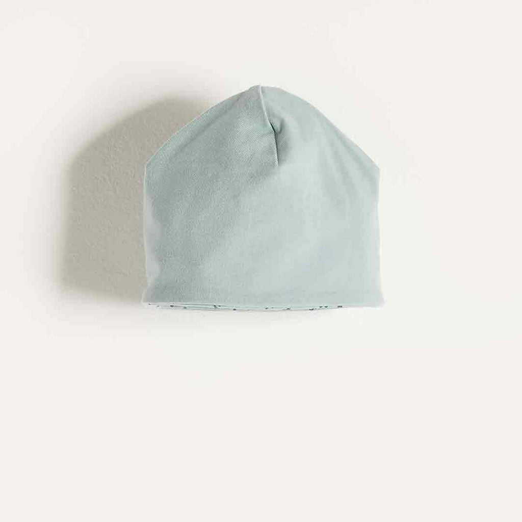 Bonnie Mob Reversible Baby Beanie Hat in Blue